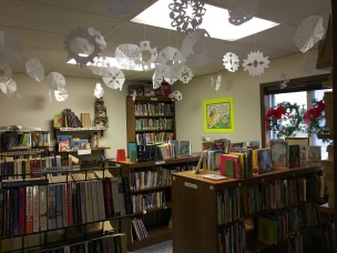 Snowflakes in Book Corner